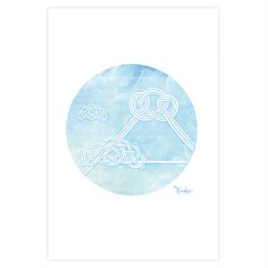 ポストカード 円結び(en-musubi) 【夏】~富士山~ ~kinako~