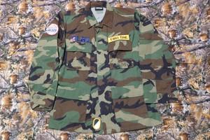 LGZ WOODLAND CAMO ARMY  JACKET T-2