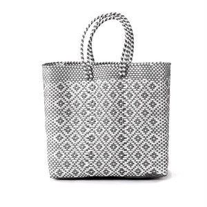 MERCADO BAG ROMBO - White x Silver(M)