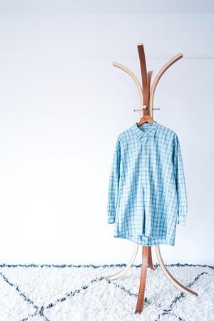 "【1940s】""French Made"" Euro Vintage Grandpa Shirts / v565"