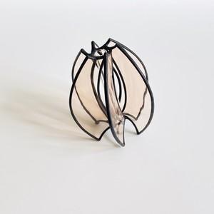 一輪挿し [ 井上ヒデコ  ステンドグラス ]   PINK H105-2