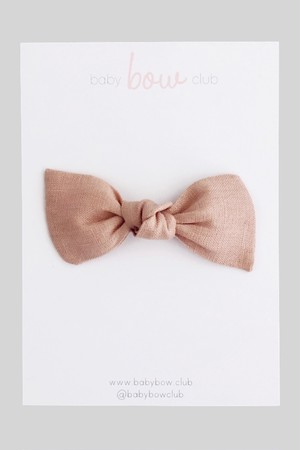 BABY BOW CLUB Blush Linen // Knot Bow