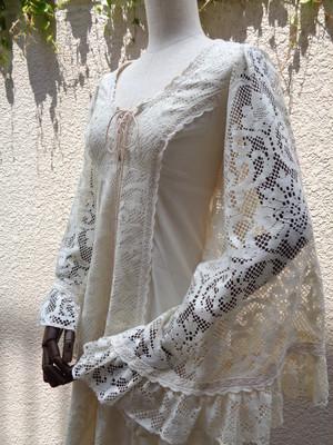 GUNNE SAX lace sleeve dress ガニーサックス 袖レース ワンピース アイボリー