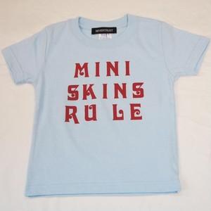 MINI SKINS RULE Tシャツ キッズサイズ サックスブルー