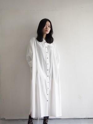 NATSUMI ZAMA Puff Sleeve Shirt Dress White