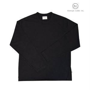 foreign rider(フォーリンライダー) long sleeve t-shirt/ロングスリーブTシャツ/カラー:BLACK【frblkls-black】