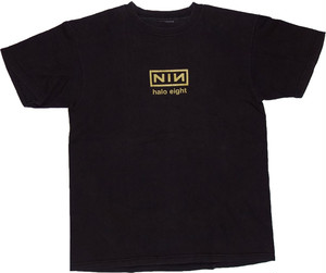 "90s nine inch nails T-SHIRT ""halo eight"""