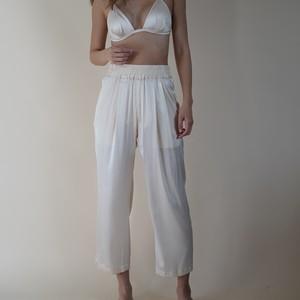Nu Pajamas Wide Slacks Almond milk (レディースサイズ)
