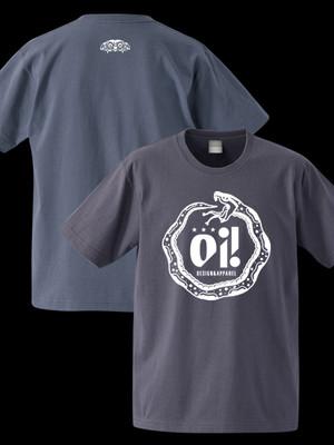 oi!ロゴ半袖Tシャツ(チャコール)