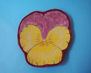 """mustan 《パンジー》 Plate/Wall Decoration  """"Pansy"""" by Imustan"""