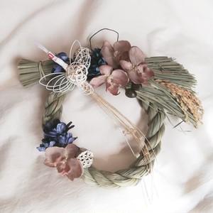 しめ飾り 稲穂*鶴