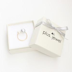 ■baroque double akoya pearl ring -light gray & white-■ バロックダブルアコヤパールリング ライトグレー&ホワイト