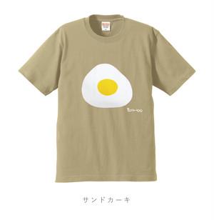 目玉焼きTシャツ サンドカーキ(受注生産)