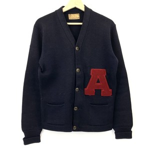 "【H.L.WHITING LETTERMAN'S】40's~50's  ""A"" Wool Lettered Cardigan"
