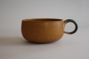 森の種陶工所 スープカップ 黄