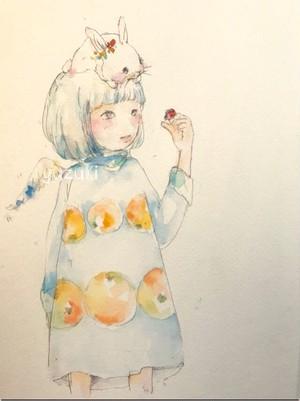 """ポストカード″キミは天使"""""""