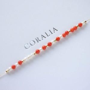【CORALIA】モールス 赤珊瑚  ネックレス  K18