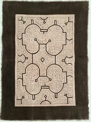 泥染め布 ランチマット10 紫 45x33cm シピボ族の泥染め プレイスマット