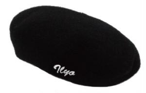 刺繍入りベレー帽