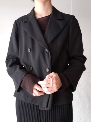 【used】tricot COMME des GARCONS 90s tropical wool double jacket トリコ コムデギャルソン トロピカルウール ダブルジャケット
