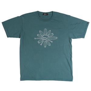 後染めプリントTシャツ:グリーン