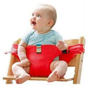 赤ちゃんとのお出かけに必需品!チェアベルト(レッド)vwab410