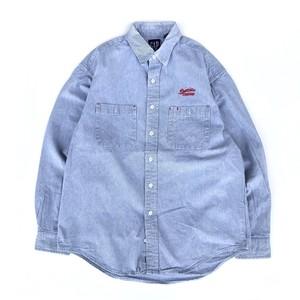 "USED 90's ""OLD GAP"" hickory shirts - light blue"