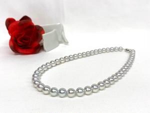 あこや真珠8-8.5mmナチュラル 連ネックレス