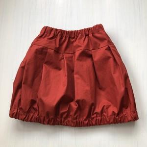 ママとオソロイ♪たっぷりプリーツのバルーンスカート(サイズ120)テラコッタ
