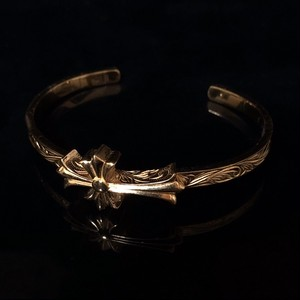 本日限定価格 24kgp Hawaiian jewelry bangle(cross)