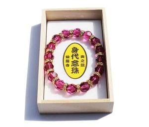 仙龍寺 祈祷済みブレス(ピンク)スワロフスキーを使用