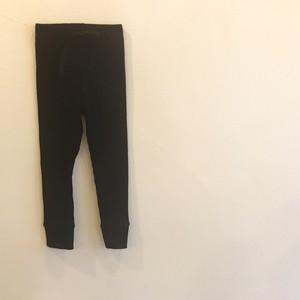 リブ編みパンツ☆ブラック