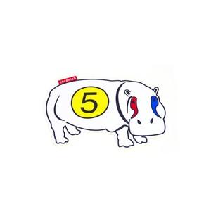 Hippo pop sticker