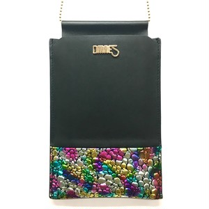Multi PhonePochette【WaterDrop】Multi×Black