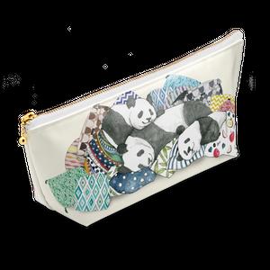 ◆即納◆「ごろ寝パンダ」柄のオリジナルデザインポーチ