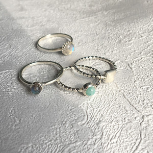 Silver925  stone ring 0040