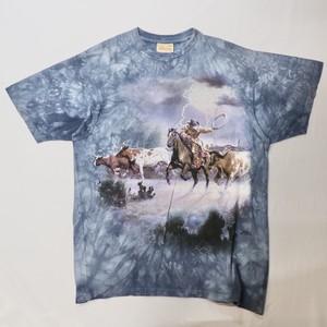 tie dye print T-shirts