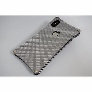 iPhoneX用シルバーカーボンケース