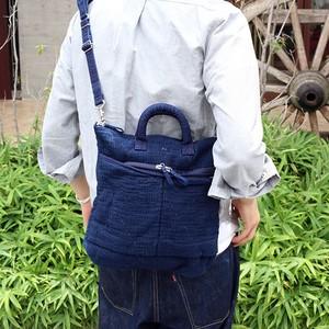 Porter Classic×muatsu NEWTON SASHIKO HELMET CASE - NEW BLUE - [PC-050-957]