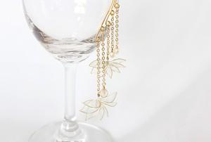 ディップイヤーフック *菱、金真珠。