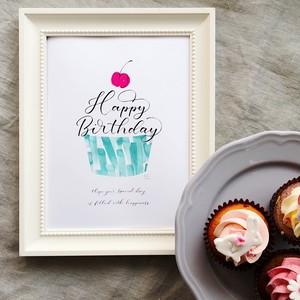 "Birthday Poster ""Cupcake"""