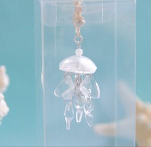 鉱石クラゲ タコクラゲの耳飾りプチ