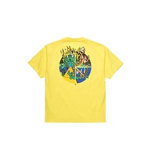 POLAR SKATE CO. CASTLE FILL LOGO TEE YELLOW L ポーラー Tシャツ