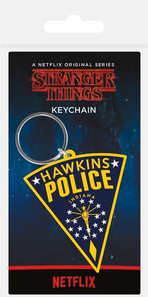 引続きセール主力商品20%OFF!  ストレンジャーシングス ラバーキーホルダー Stranger Things (Hawkins Police Patch) PRK38885