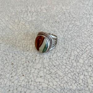 silver ring/ジャスパー