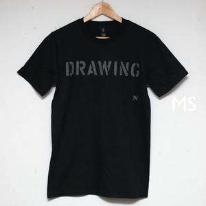drawing リフレクター T オーガニックコットン ブラック