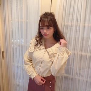 sailor frill blouse