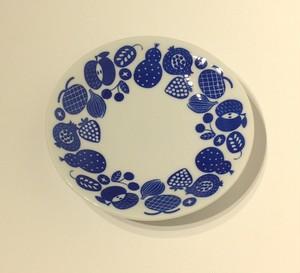 松尾ミユキ お皿L Fruits Blue