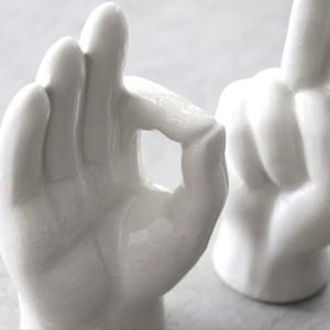 "Porcelain Hand Objet ""OK"" ポーセリン ハンド オブジェ ""オーケー"""