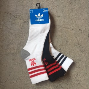 adidas Originals Strip Trefoil Logo Quarter 3 Pack Socks